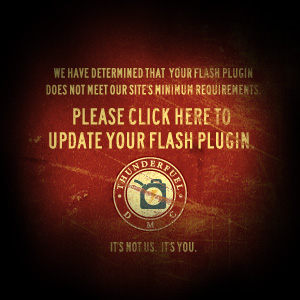 Click here to update your browser's flash player.